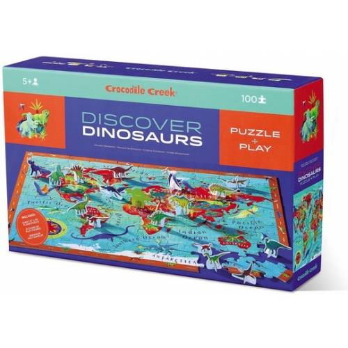 Discover DINOSAURS World Puzzle 100 pzs