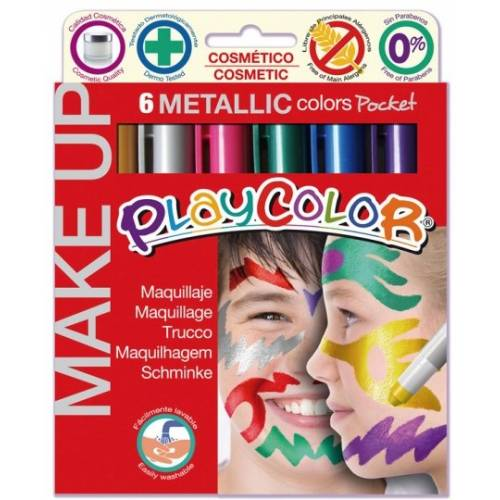 Maquillaje Playcolor Metallic 6 colores