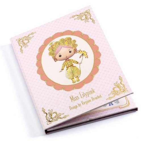Tinyly Miss Lilypink - Pegatinas Reutilizables
