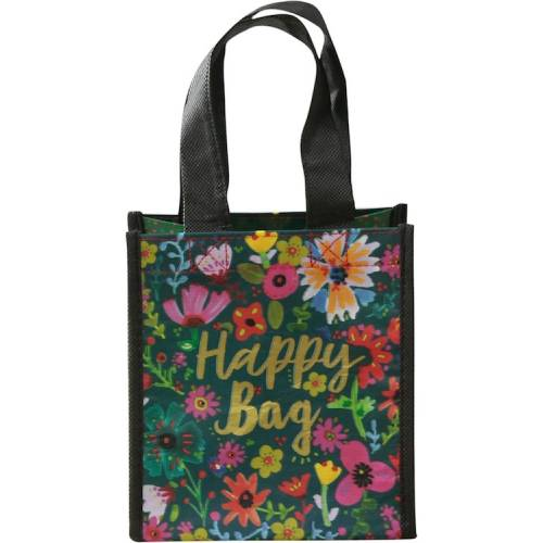 Gift Bag small TEAL GOLD FLORAL